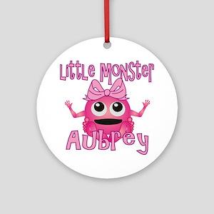 aubrey-g-monster Round Ornament