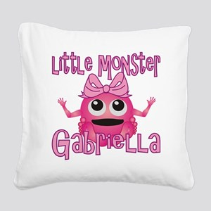 gabriella-g-monster Square Canvas Pillow