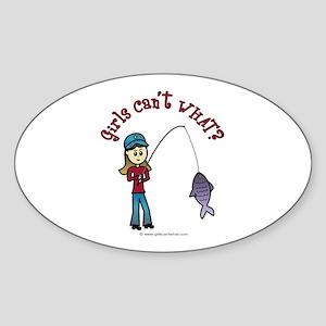 Light Fishing Oval Sticker