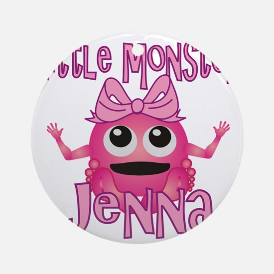 jenna-g-monster Round Ornament