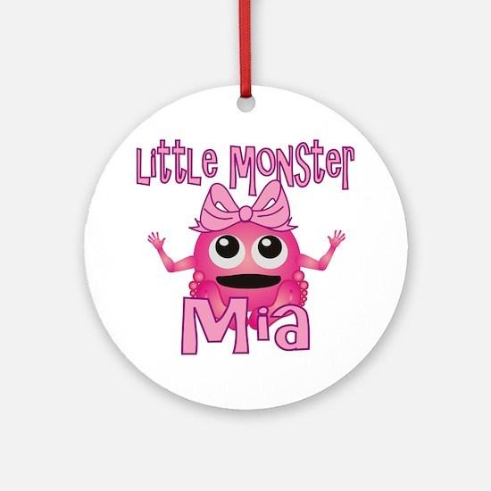 mia-g-monster Round Ornament