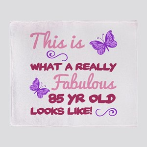 Fabulous 85th Birthday Throw Blanket