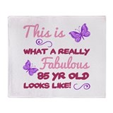85th birthday women Fleece Blankets