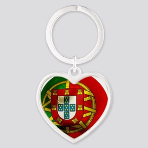 Portugal Football Heart Keychain
