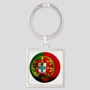 Portugal Football Square Keychain