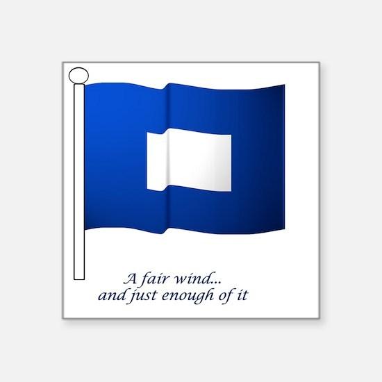 "bluepeter[4x4_pocket] Square Sticker 3"" x 3"""
