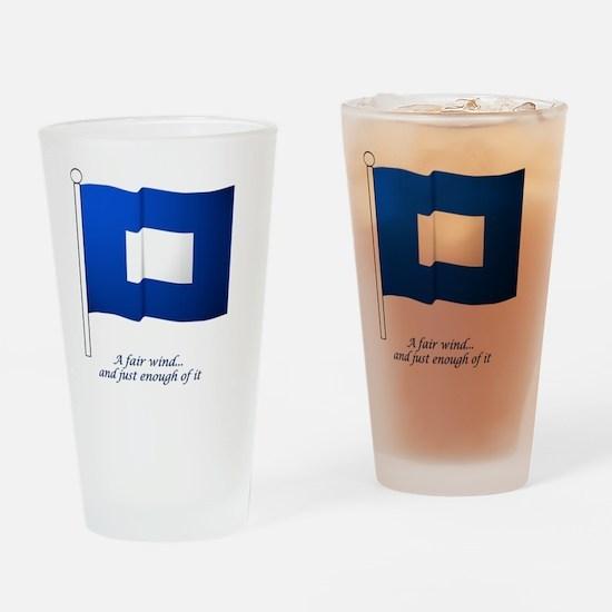 bluepeter[4x4_pocket] Drinking Glass
