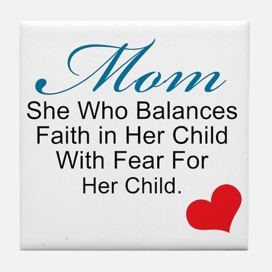 mom (2) Tile Coaster