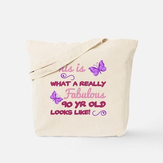 Funny 90th birthday women Tote Bag