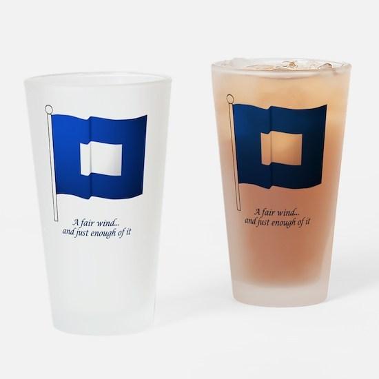 bluepeter[6x6_pocket] Drinking Glass