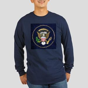 Presidential Seal Long Sleeve Dark T-Shirt