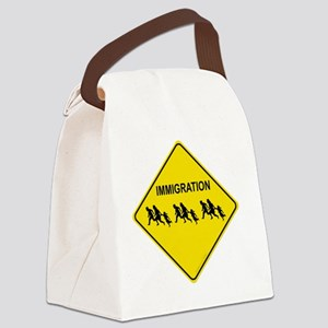 immigration crossing Canvas Lunch Bag