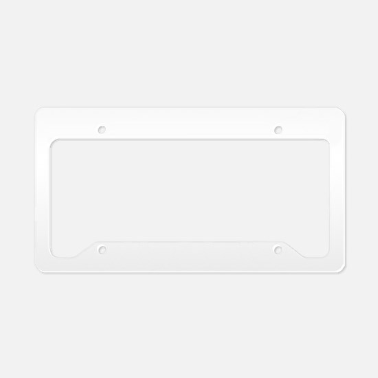 Motocross C White License Plate Holder