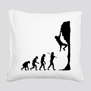 Rock Climbing 2 Square Canvas Pillow