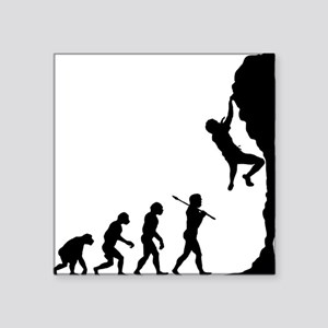 "Rock Climbing 2 Square Sticker 3"" x 3"""