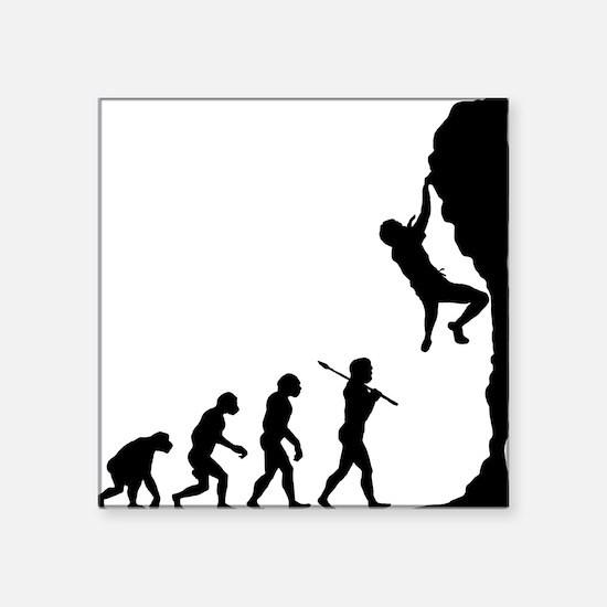 "Rock Climbing 2 Square Sticker 3"" x 3"""