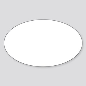 Rock Climbing 5 White Sticker (Oval)
