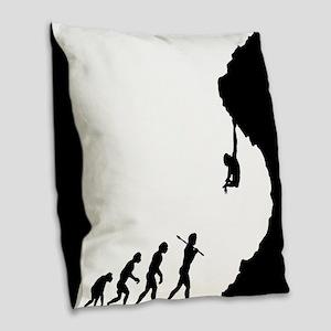 Rock Climbing 8 Burlap Throw Pillow