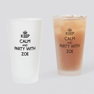 Keep Calm and Party with Zoe Drinking Glass