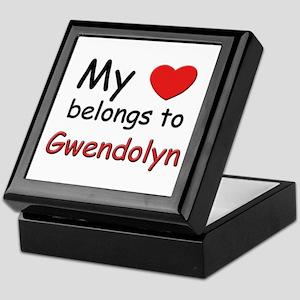 My heart belongs to gwendolyn Keepsake Box