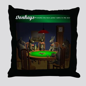 T0038B-DonkeysBestTable-2000x2000 Throw Pillow