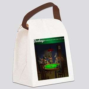 T0038B-DonkeysBestTable-2000x2000 Canvas Lunch Bag