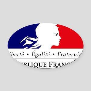 REPUBLIQUE FRANCAISE Oval Car Magnet