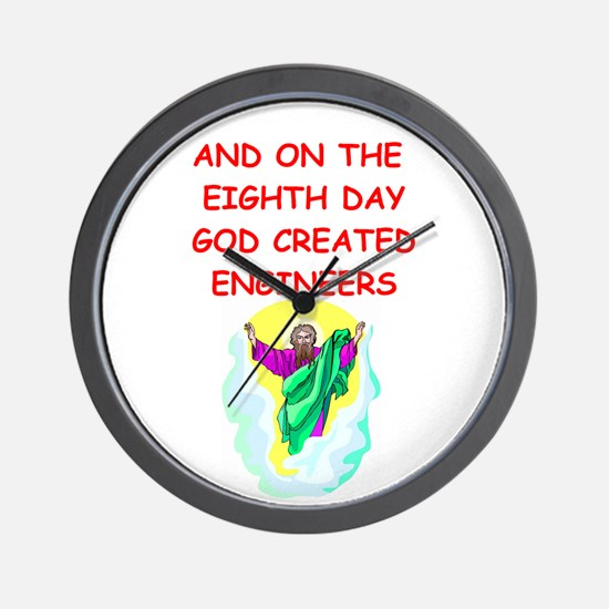 ENGINEERS.png Wall Clock