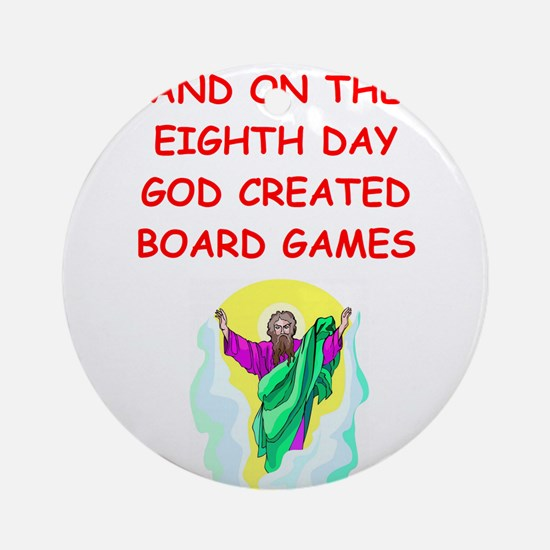 BOARDGAMES.png Ornament (Round)