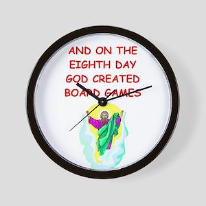 BOARDGAMES Wall Clock
