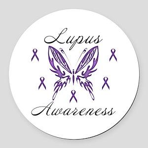 Lupus Awareness Round Car Magnet