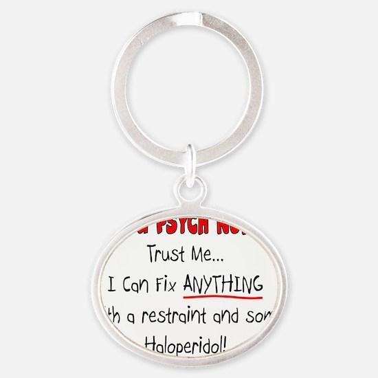 Psych Nurse Oval Keychain