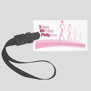 BreastCancerRibbonWalkersPhilly2 Large Luggage Tag
