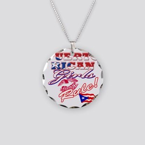 puerto rican girls rule Necklace Circle Charm