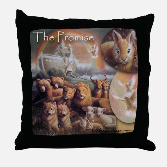 """Noah's Ark"" The Promise Fine Art Throw Pillow"
