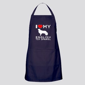 I Love My English Toy Spaniel Apron (dark)