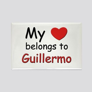My heart belongs to guillermo Rectangle Magnet