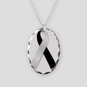 ribbon Necklace Oval Charm