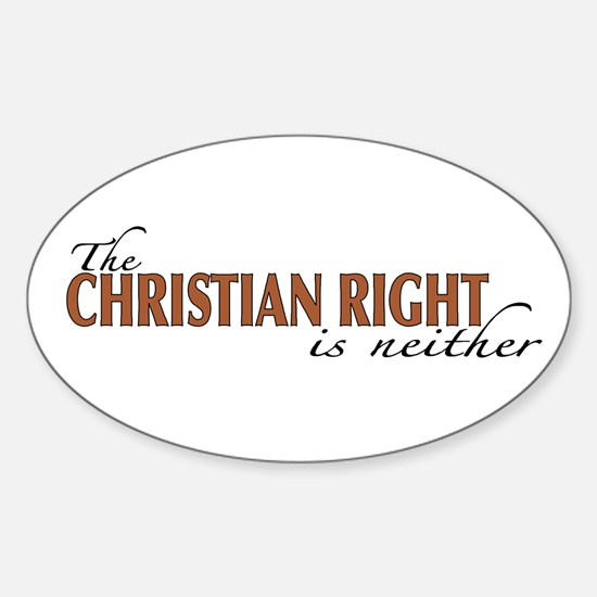 Christian Right Oval Decal