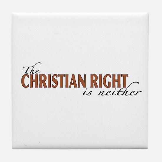 Christian Right Tile Coaster