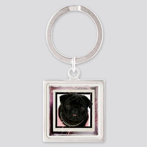 pretty in pink Square Keychain