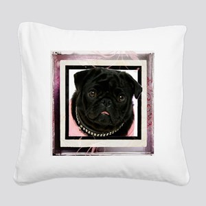 pretty in pink Square Canvas Pillow