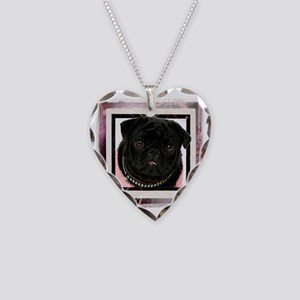 pretty in pink Necklace Heart Charm