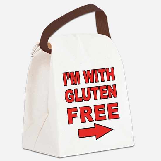 Im With_right Canvas Lunch Bag