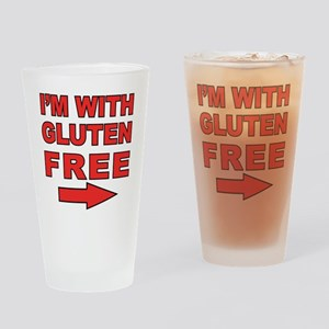Im With_right Drinking Glass
