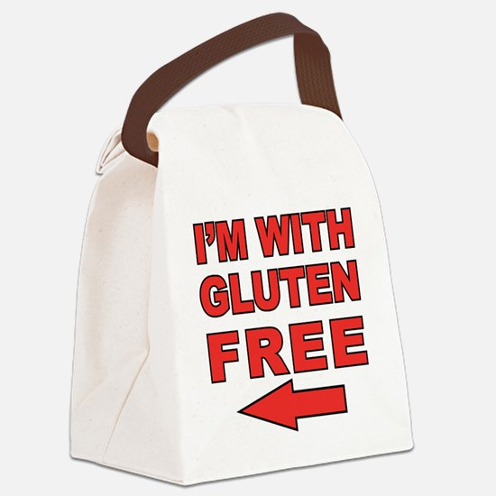 Im With_left Canvas Lunch Bag