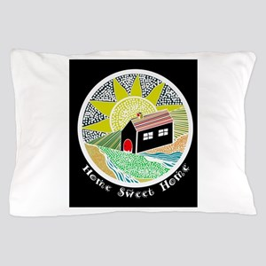 House of Lines Home Sweet Home Lime Pillow Case
