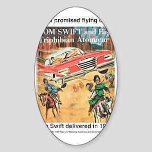 Flying Car Tom Swift Sticker (Oval)