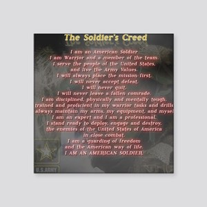 """2-Soldiers Creed Square Sticker 3"""" x 3"""""""