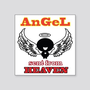 "angel  2 Square Sticker 3"" x 3"""
